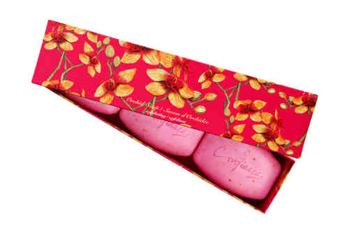 Orchidee Box 3x150 g Seife pink